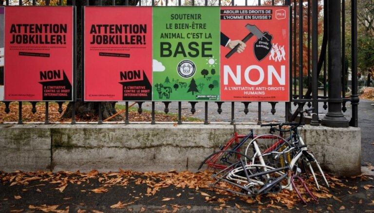Šveicē notiek referendums par 'pašnoteikšanos'