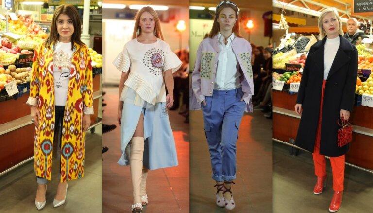 ФОТО: как Рижский центральный рынок превратился в место проведения модных показов