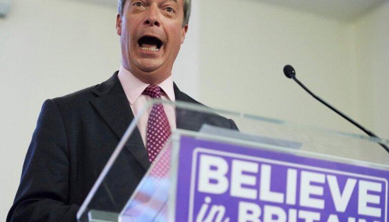 Lielbritānijā pirms iespējamajām EP vēlēšanām vadībā izvirzījusies 'Brexit' partija, atklāj aptauja