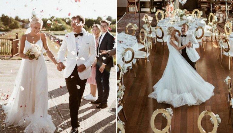 Foto: Skaistais Leperu pāris publisko kāzu svinību bildes