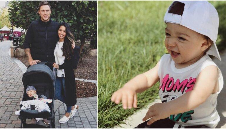 ФОТО: Как растет сын двукратного олимпийского чемпиона Мариса Штромбергса
