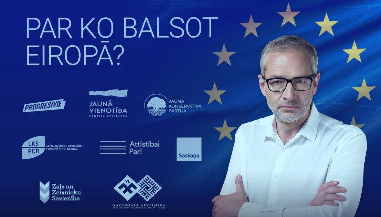 'Par ko balsot Eiropā?' — pulksten 14 tiešraidē noslēdzošās līderu debates
