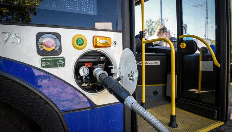 На единственной в Риге водородной заправке для троллейбусов произведено более 10 тыс. кг водорода