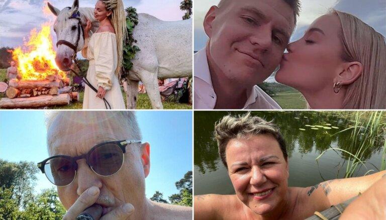 Foto: Kā saulgriežus svinēja sabiedrībā zināmi ļaudis