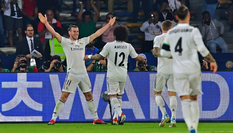 Beils ar 'hat trick' ieved Madrides 'Real' klubu Pasaules kausa finālā