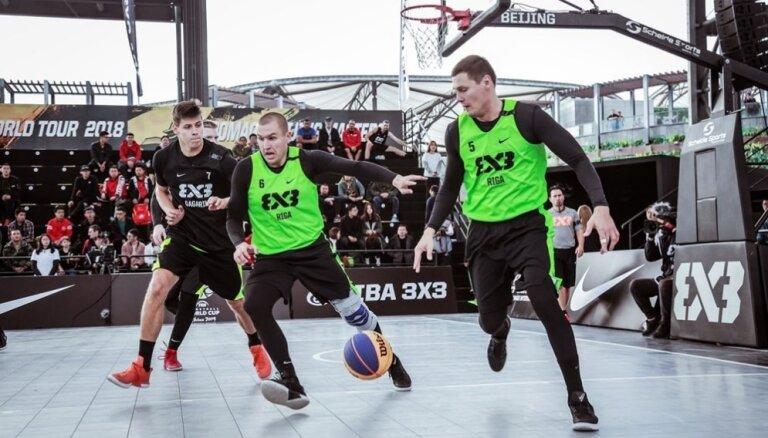 Pasaules tūres finālposms Latvijas 3x3 basketbolistiem sācies ar uzvaru