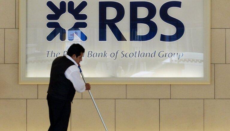 Globālās krīzes skartā 'Royal Bank of Scotland' piedzīvo pamatīgus zaudējumus