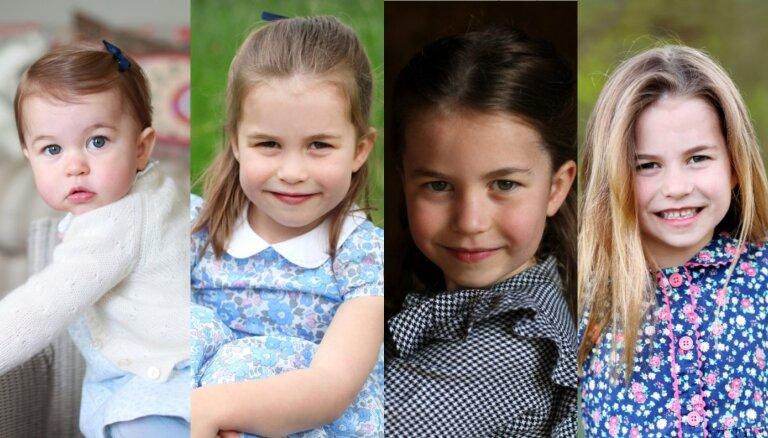 Toreiz un tagad: Kā izaugusi mazā britu princese Šarlote