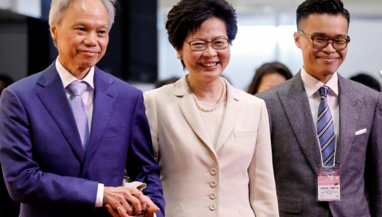 ASV nosaka sankcijas Honkongas līderei Kerijai Lamai