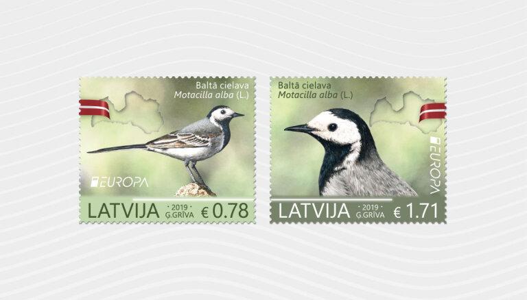 Latvijas nacionālais putns – baltā cielava – šogad rotā Eiropas sērijas pastmarkas