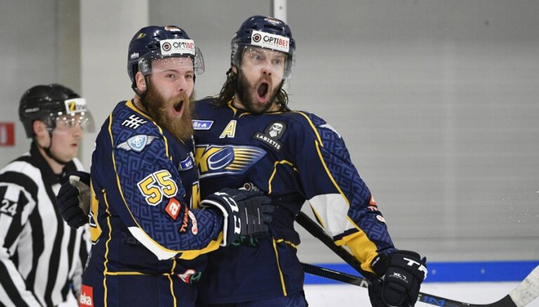 'Kurbada' hokejisti OHL fināla trešajā spēlē svin pirmo uzvaru pār 'Mogo'