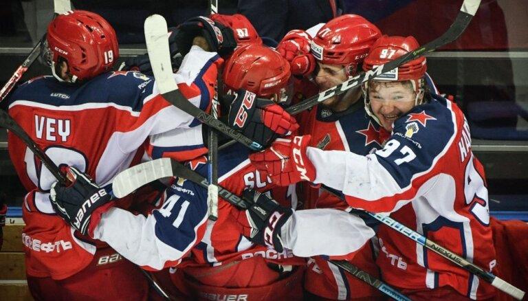 Maskavas CSKA izcīna uzvaru pirmajā Gagarina kausa finālspēlē