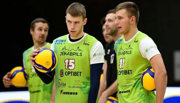 Jēkabpils 'Lūši' volejbolisti Tartu piedzīvo zaudējumu 'Credit24' meistarlīgas mačā