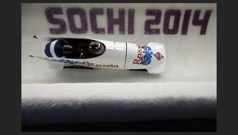 IBSF par antidopinga pārkāpumiem pieciem Krievijas bobslejistiem piespriež pagaidu diskvalifikācijas