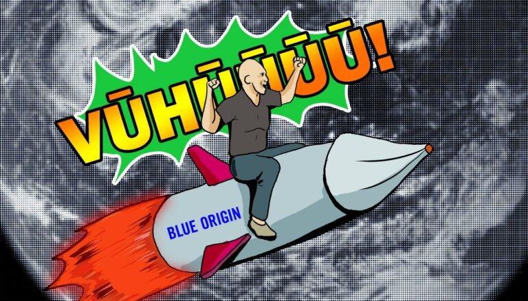 'Delfi Bizness' komikss: Miljardiera izklaides – Bezoss piemaksā NASA