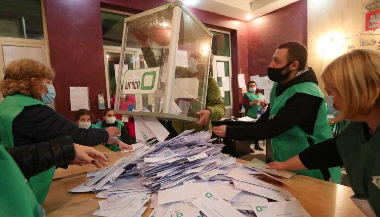 Gruzijas pašvaldību vēlēšanās visvairāk balsu ieguvusi valdošā partija, liecina provizoriskie rezultāti