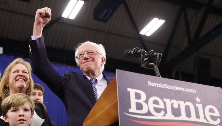 Sanderss uzvar priekšvēlēšanās Ņūhempšīrā; Baidens – lielākais zaudētājs