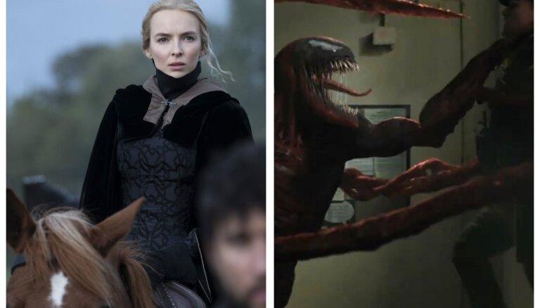 Šaušalīgi notikumi 14. gadsimta Francijā un atkalredzēšanās ar Venomu. Kas jauns kinoteātros?