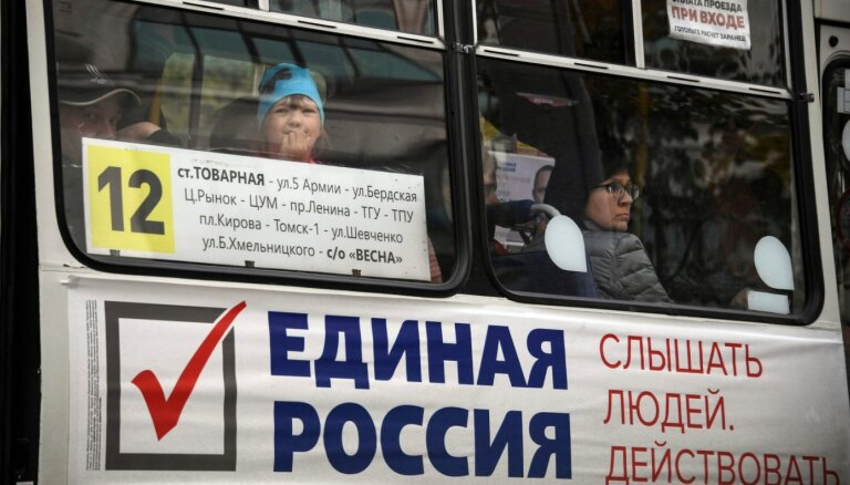 Reģionālajās vēlēšanās Krievijā uzvar valdošā partija