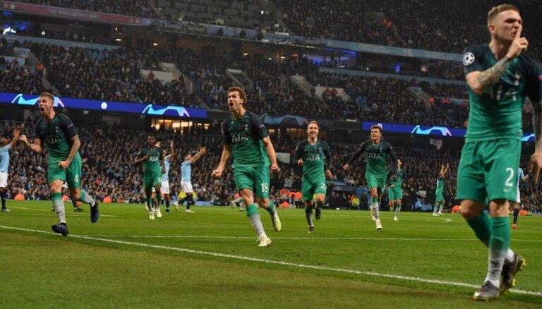 Totenhemas 'Hotspur' fantastiskā mačā sasniedz Čempionu līgas pusfinālu