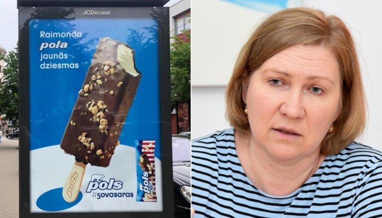 Reklāmas asociācijā nesaredz ētikas pārkāpumu saldējuma 'Pols' reklāmā