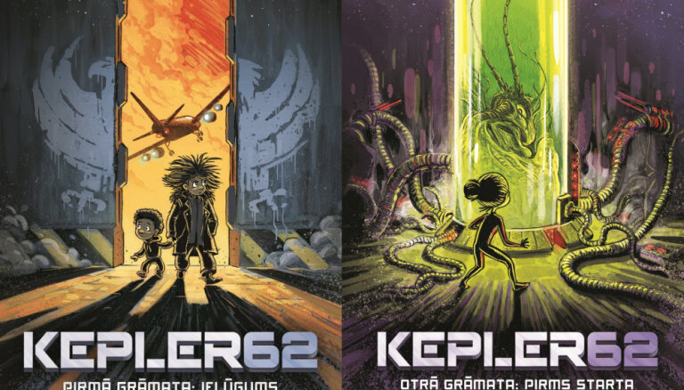 Izdota jauna grāmatu sērija jauniešiem par plašo Visumu - 'Kapler62'