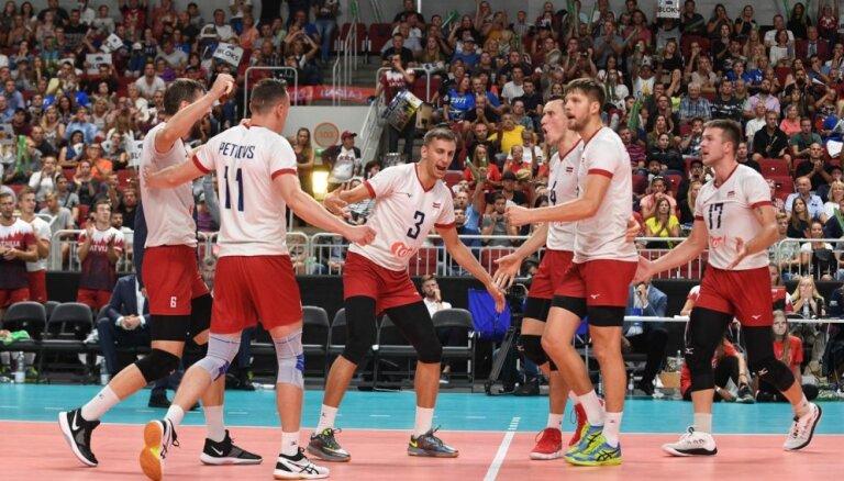 Latvijas volejbolisti arī 2019. gadā spēlēs Eiropas līgā