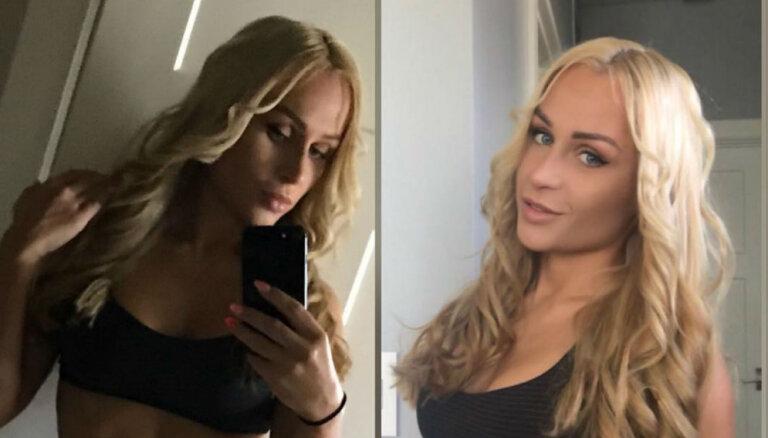 Латвийская фитнес модель Карина Акменс показала поклонникам свою женственность