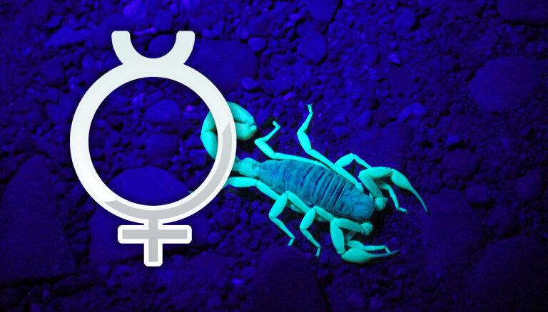 Merkurs Skorpiona zīmē: sākas 'dziļo racēju' un transformāciju laiks