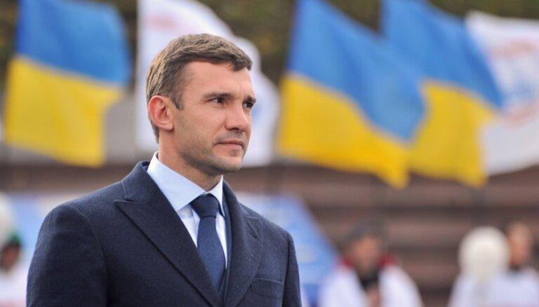 Ukrainas futbola zvaigzne Ševčenko kļūst par valsts izlases galveno treneri