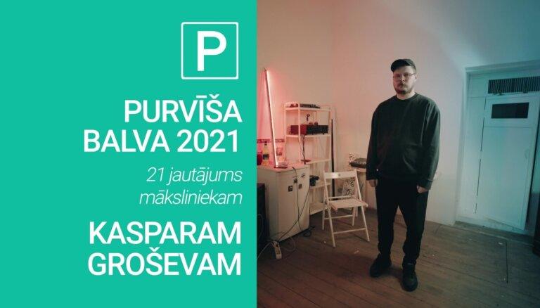 Noskaties! 'Purvīša balva 2021' – 21 jautājums Kasparam Groševam