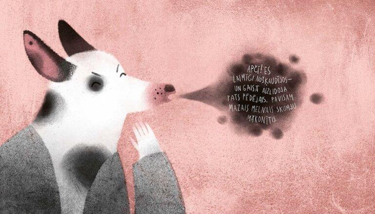 Iznākusi bilžu grāmata par emocijām 'Suns, kurš atrada skumjas'