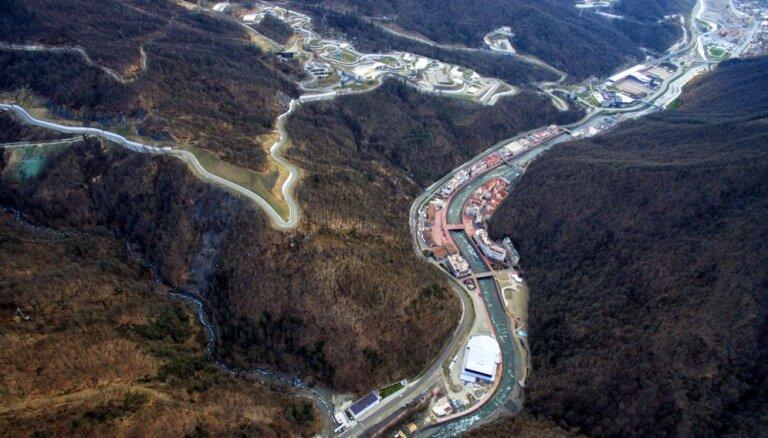 В Сочи cгорел участок олимпийской санно-бобслейной трассы