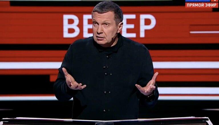 'Rossija RTR' un propagandists Solovjovs atgriezies Latvijas apraidē