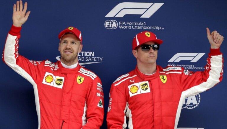 'Ferrari' pilotiem dubultuzvara arī Ķīnas 'Grand Prix' kvalifikācijā