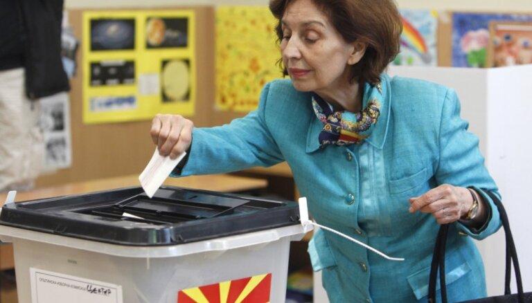 Ziemeļmaķedonijā notiek prezidenta vēlēšanas