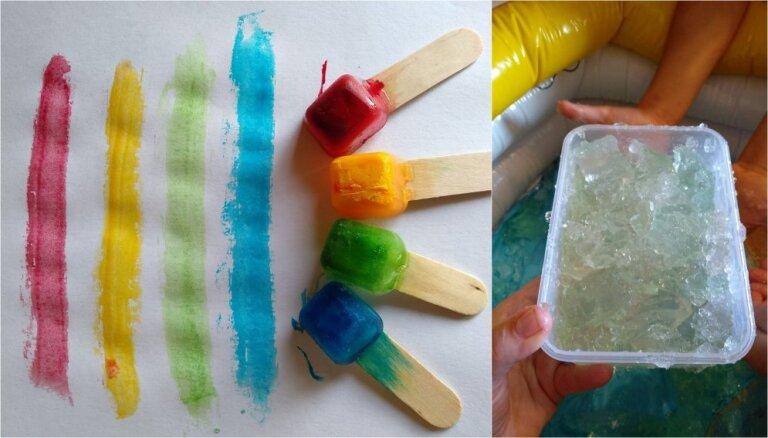 Leduskrāsas un aukstā želeja – divas karsto dienu rotaļu idejas mazuļiem
