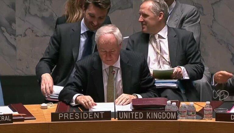 ANO Drošības padomes sēdē uz Krieviju norāda kā krīzes cēloni Ukrainas austrumos