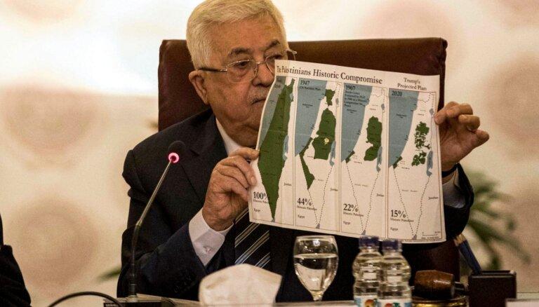 Arābu līga noraida Trampa Tuvo Austrumu miera plānu
