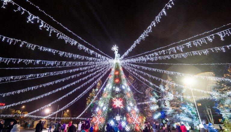 ФОТО. Как выглядит рождественский Даугавпилс
