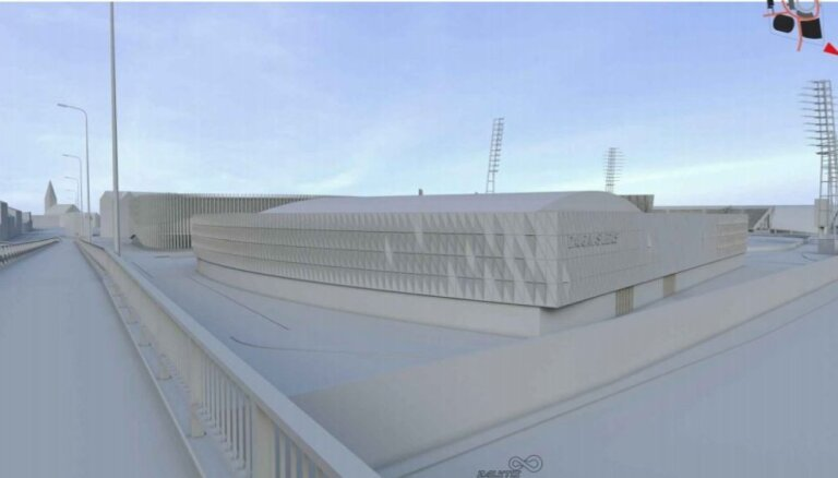 """ФОТО: Как будет выглядеть ледовый холл на территории стадиона """"Даугава"""""""