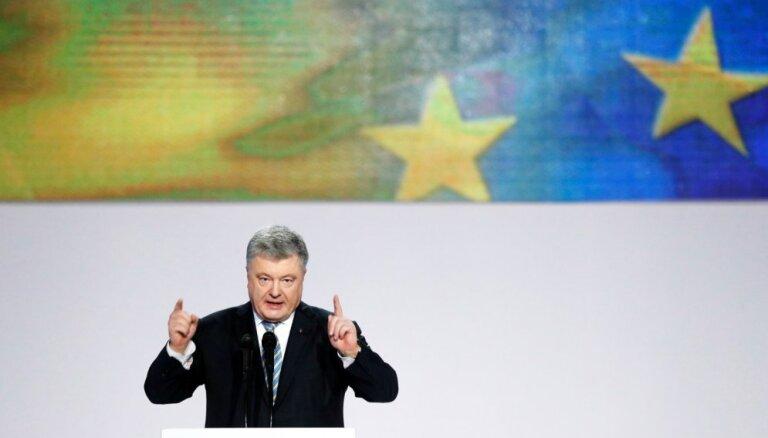 Porošenko sola: 2024. gadā Ukraina pieteiksies dalībai ES