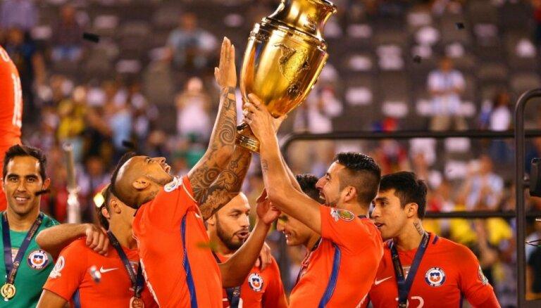 Čīle otro reizi pēc kārtas uzvar 'Copa America'