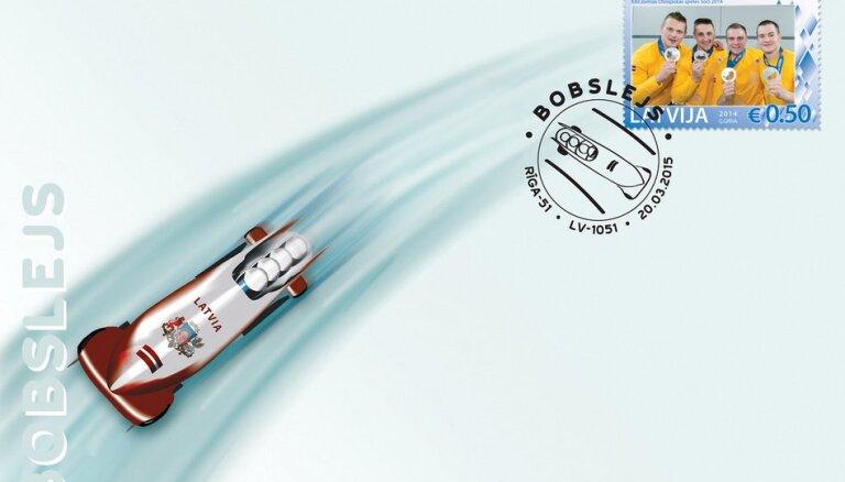'Latvijas Pasts' izdod bobslejam veltītu aploksni