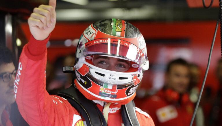 Leklērs ātrākais Itālijas 'Grand Prix' pirmajos divos treniņos