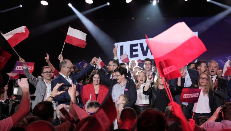Polijas vēlēšanās konservatīvie izcīna gandrīz 44% balsu