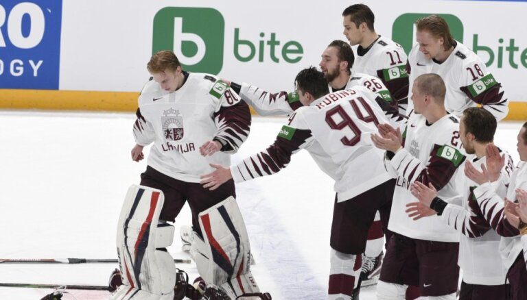 Latvijas vārtsargi un aizsardzība starp labākajiem pēc PČ pirmajām trim spēlēm