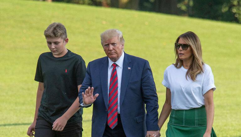 Foto: Donalda Trampa jaunākais dēls Barons brangi izaudzis