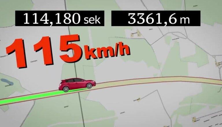 Uz Tīnūžu - Kokneses šosejas darbu sāk vidējā braukšanas ātruma kontroles sistēma