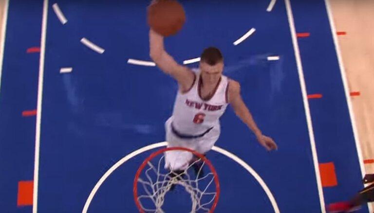 Video: Porziņģa 'danks' atzīts par NBA dienas skaistāko epizodi